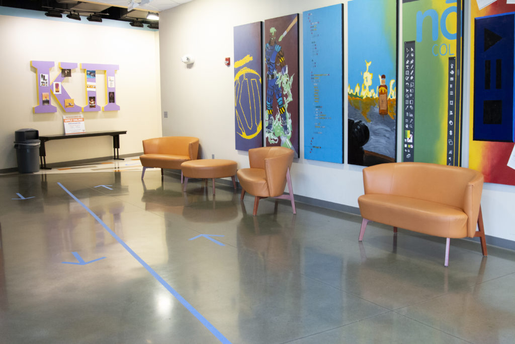 Social Distancing at Nossi College -Student Lounge
