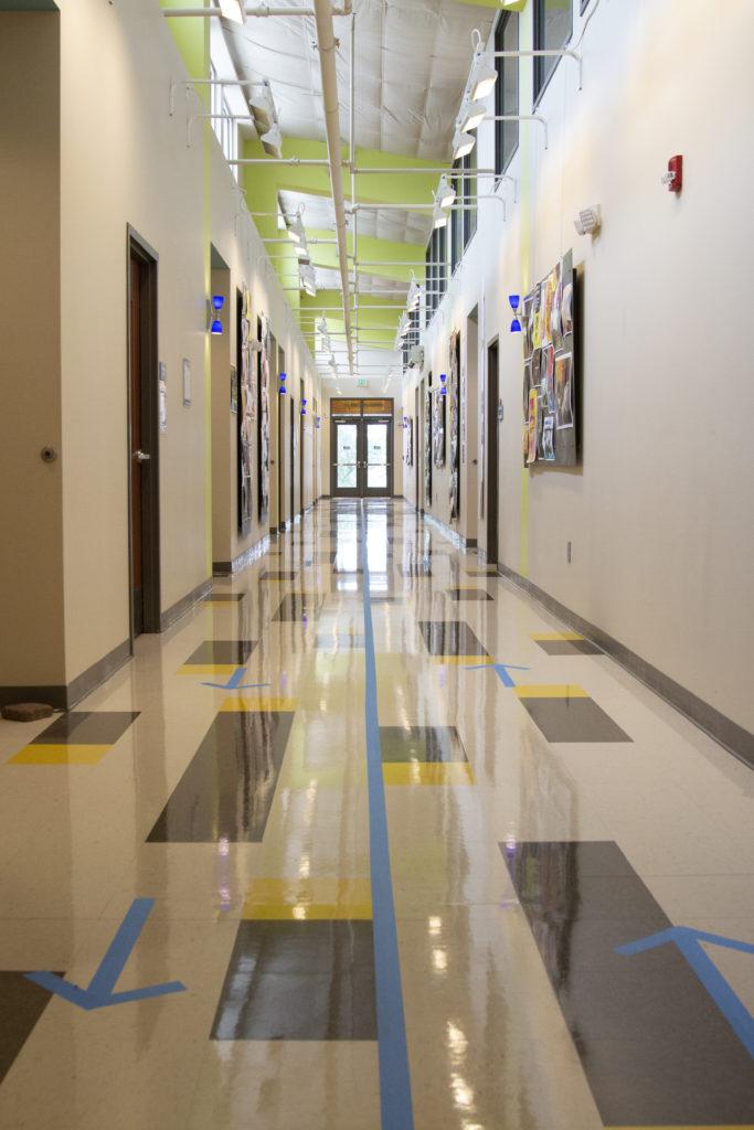 Social Distancing at Nossi College - Hallways