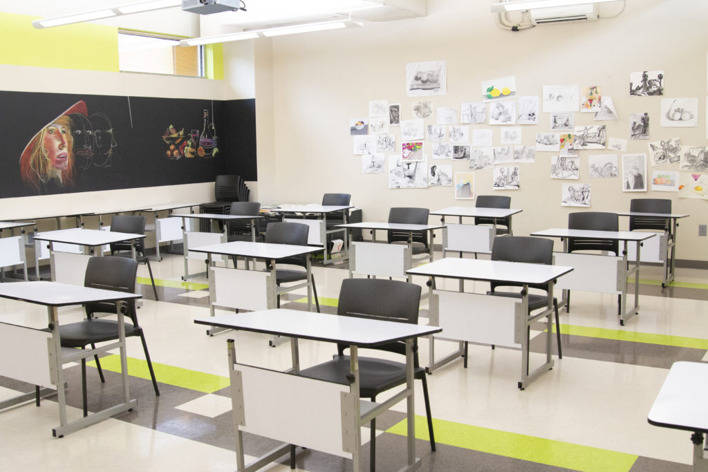 Social Distancing at Nossi College - Classrooms