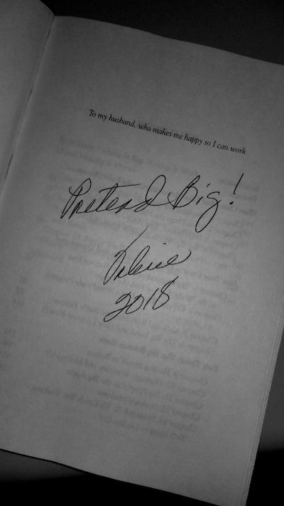 Valerie graves signed book