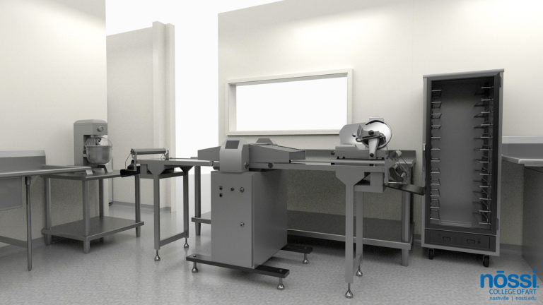 Art College Kitchen Mockup, Culinary Arts Degree, baking area with professional grade equipment