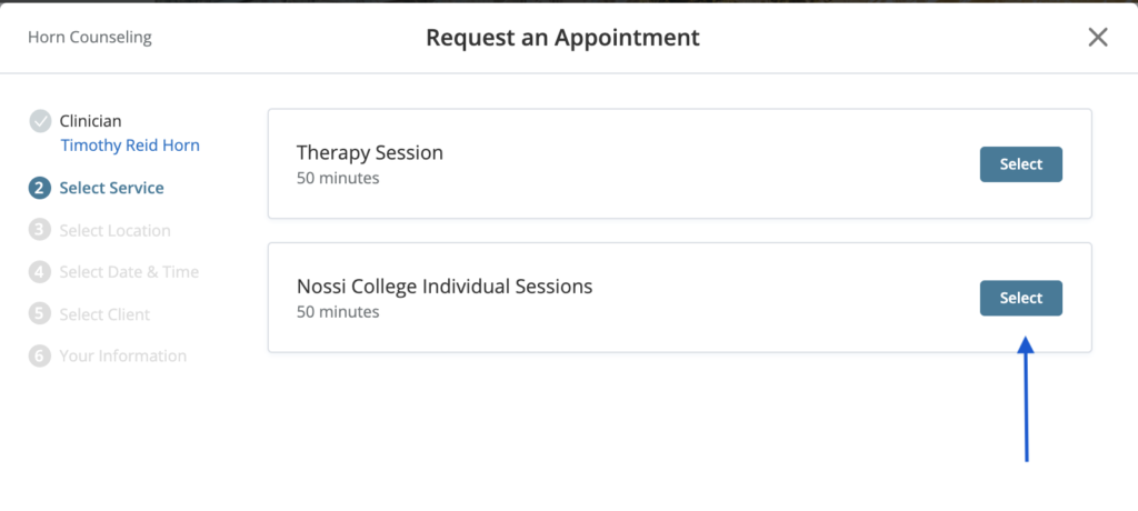 How to sign up for therapy in college