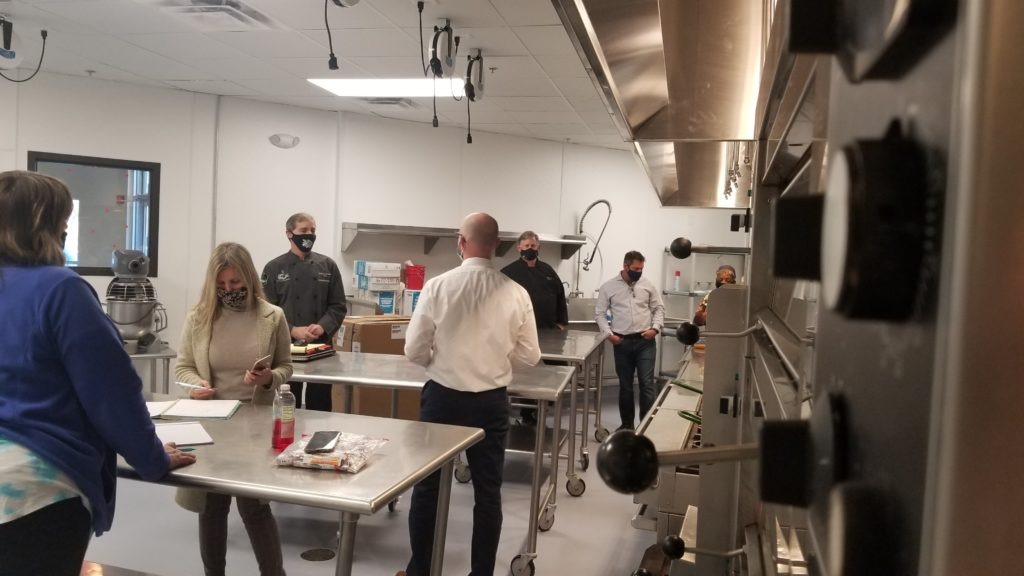 new test kitchen at nossi college of art